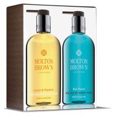 Molton Brown Lemon & Mandarin and Blue Maquis Fine Liquid Hand Wash Set