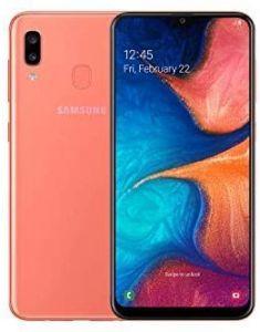 """Samsung Galaxy A20e Smartphone, Android, 5.8"""", 4G LTE, SIM Free, 3GB RAM, 32GB, SM-A202FZWDBTU - Coral Orange"""