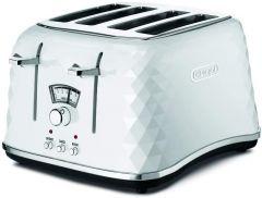 De'Longhi Brillante 4 Slice Toaster -  White