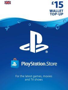 PlayStation PSN £15 GBP Wallet Top Up - Instant Digital Download
