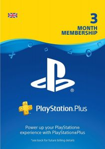 SONY Playstation Plus 3 Month Membership UK - Digital Code