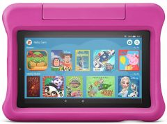 "Amazon Fire 7 Kids Edition Tablet | 7"" Display, 16 GB, - Pink Kid-Proof Case"