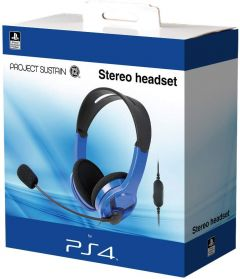 OFFICIAL PS4 HEADSET - BLUE