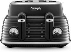 De'Longhi Scolpito 4 Slice Toaster - Black