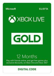 XBOX LIVE 12 Months Gold Membership - Xbox Instant Digital Download -  EU