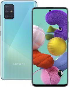 SAMSUNG GALAXY A51 SMARTPHONE - 4G, 4GB RAM, 128GB STORAGE, CRUSH BLUE