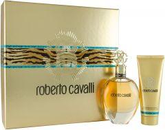 Roberto Cavalli Eau De Parfum 75ml + Perfumed Body Lotion 75ml Gift Set