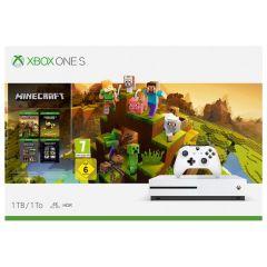 Xbox One S 1TB White Console and Minecraft Creators Bundle