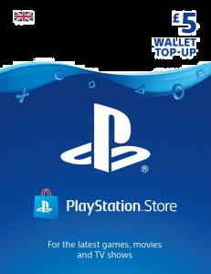 PlayStation PSN £5 GBP Wallet Top Up - Instant Digital Download