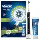 Oral B Pro650 3D Black Electric Toothbrush + Toothpaste 75ml