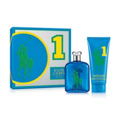 Ralph Lauren The Big Pony Mens Collection No 1-Blue 75ml EDT Spray + 200ml Body Wash
