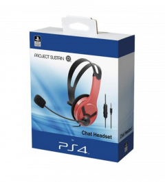 PS4 MONO HEADSET OFFICIAL - RED
