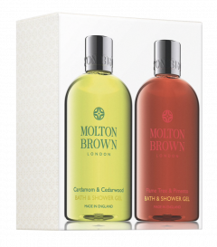 Molton Brown Cardamom & Cedarwood and Flame Tree & Pimento Bath & Shower Gell