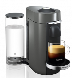 Nespresso Vertuo Plus Coffee Machine Titan & 50 Coffee Bundle