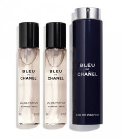 Chanel Bleu de Chanel Eau De Parfum Travel Spray and Two Refills 3x20ml