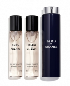 Chanel Bleu de Chanel EDT travel spray and two refills 60ml (3x20ml)