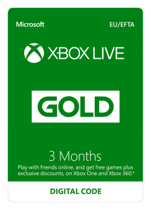 3 Month Live Gold Membership - Xbox Live Digital Download Code