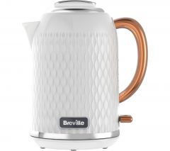 Breville Jug Kettle 1.7L Gold Handle - Gloss White