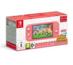 Nintendo Switch Lite Animal Crossing New Horizons Special Edition - Coral