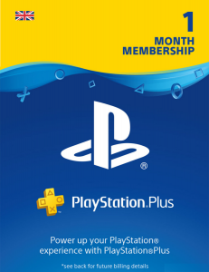 SONY Playstation Plus 1 Month Membership - Instant Digital Download
