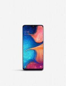 """Samsung Galaxy A20e Smartphone, Android, 5.8"""", 4G LTE, SIM Free, 3GB RAM, 32GB, SM-A202FZWDBTU - White"""