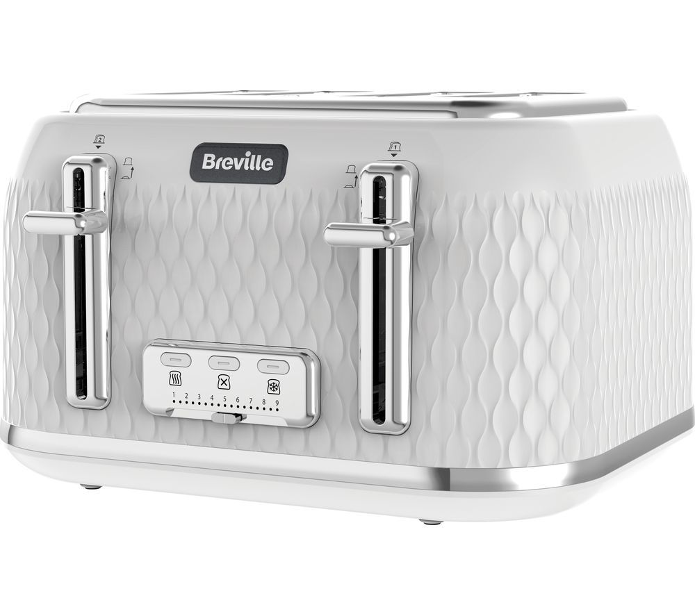 4 Slice Toaster White