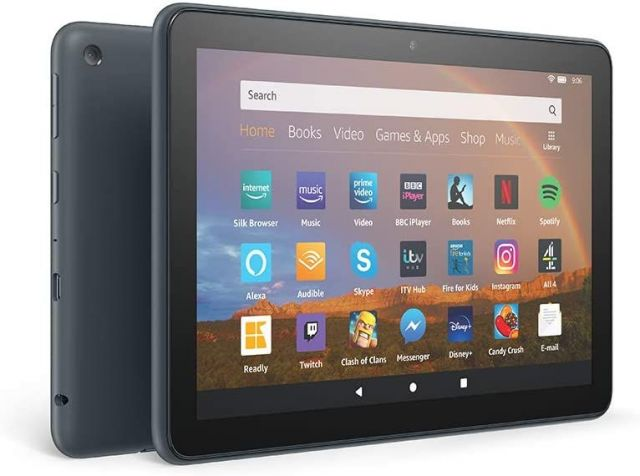 Amazon Fire HD 8 Plus, 32GB Tablet In Slate Black & Accessories Option