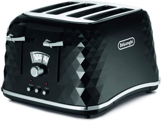 De'Longhi Brillante 4 Slice Toaster -  Black