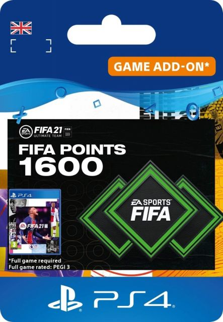 Fifa 21 1600 Ultimate Team Points - PS4