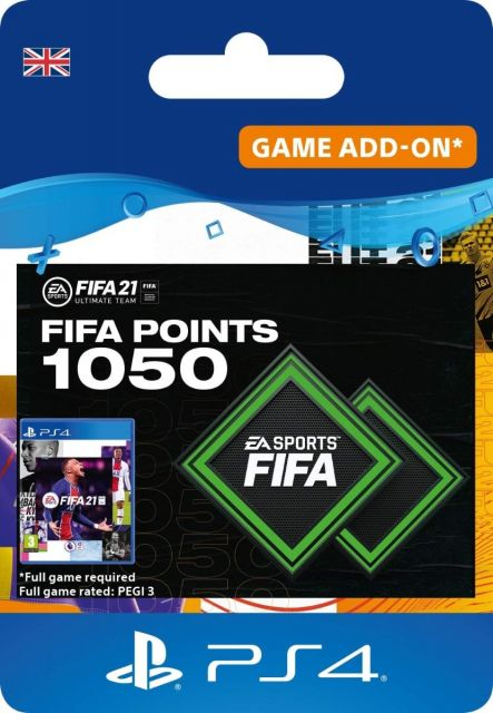Fifa 21 1050 Ultimate Team Points - PS4