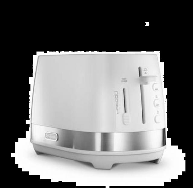 De'Longhi Active Line 2 Slice Toaster - White