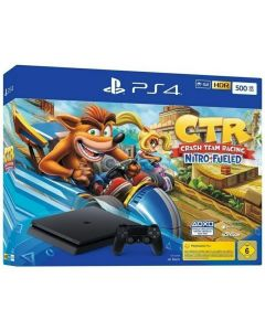 PS4 Console 500GB Black and Crash Team Racing