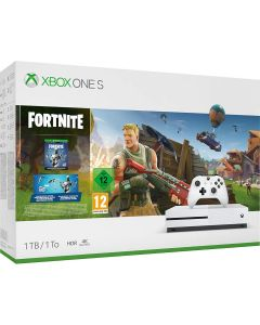 Xbox One S 1TB White Console and Fortnite
