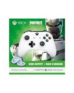 Xbox Wireless Controller with Fortnite Eon Cosmetic Set, 500 V-bucks and 3 Months Xbox Live Gold membership
