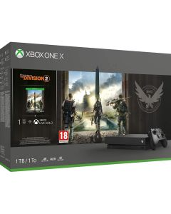 Xbox One X 1TB Black Console and Tom Clancy's The Division 2  Bundle