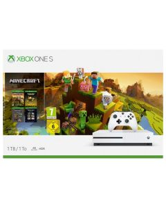 Xbox One S 1TB White Console and Minecraft Creators Bundle