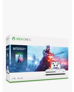 Xbox One S 1TB White Console and Battlefield V Deluxe Edition Bundle