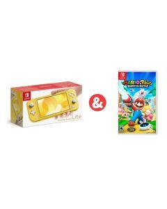 Nintendo Switch Lite Yellow & Mario + Rabbids Kingdom Battle