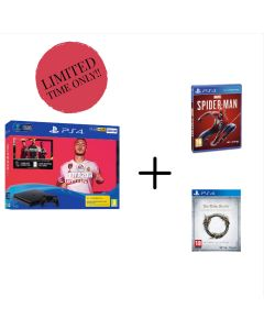 PS4 500GB Fifa 20 Bundle with Spiderman and The Elder Scrolls Online