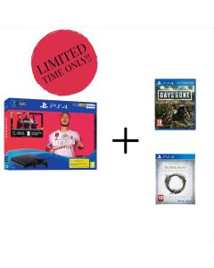 PS4 500GB Fifa 20 Bundle with Days Gone and The Elder Scrolls Online