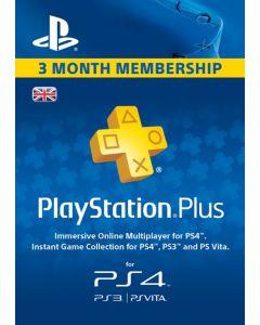 SONY Playstation Plus 3 Month Membership UK - Digital Code