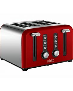 RUSSELL HOBBS WINDSOR RED 4 Slice Toaster 22831 Brand NEW SEALED