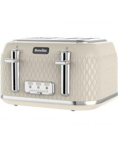 BREVILLE Curve VTT788 4-Slice Toaster - Cream